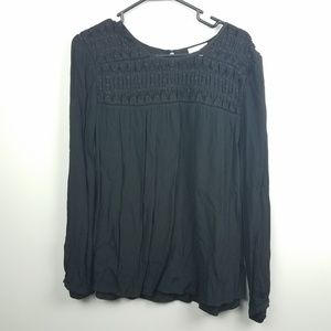 Anthropologie Meadow Rue Top Size Large Black